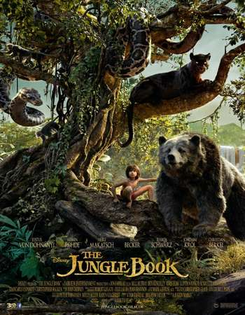 Poster Of The Jungle Book 2016 Dual Audio 720p  ORG [Hindi - English]  Free Download Watch Online Worldfree4u