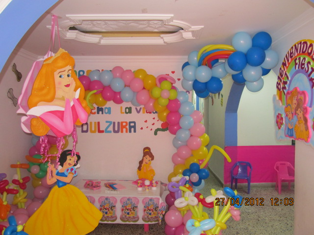 DECORACION FIESTA PRINCESAS DISNEY |Revoltosos Recreaciones ...