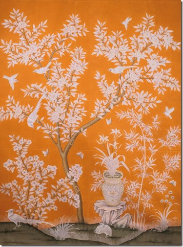 Chinoiserie Chic Touches Of Orange Chinoiserie