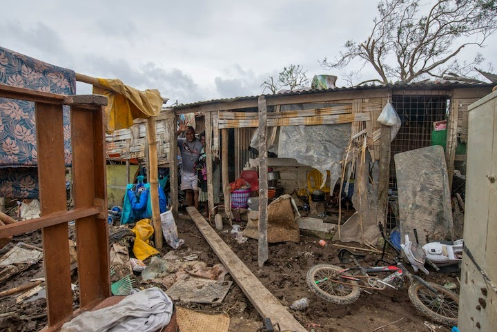 Assessing damage in the wake of Cyclone Pam. (Credit: ECHO/Flickr) Click to Enlarge.