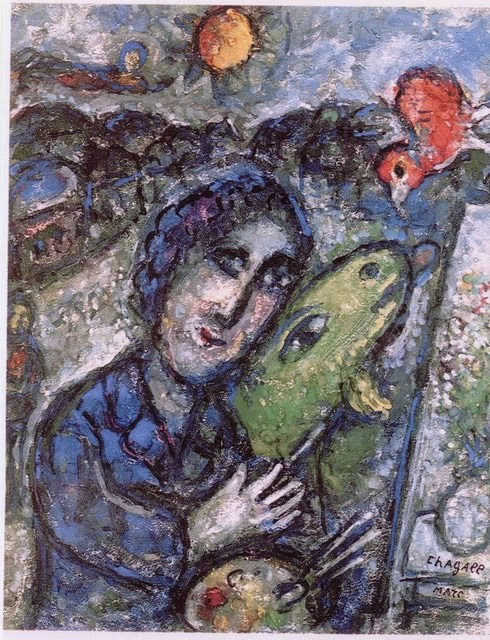 Paintings of spring marc chagall 7 iulie 1887 28 for Chagall peintre