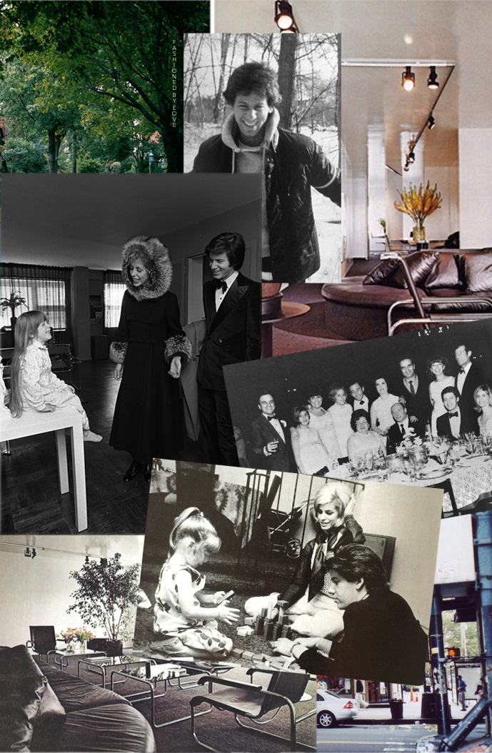 Calvin Klein's apartment in New York, Calvin by Michael Datoli in early 1970s, Calvin Klein & Jayne at the bar mitzvah photographed by Walter Teitelbaum, Calvin, Jayne & Marci | Calvin Klein biography | Fashioned by Love