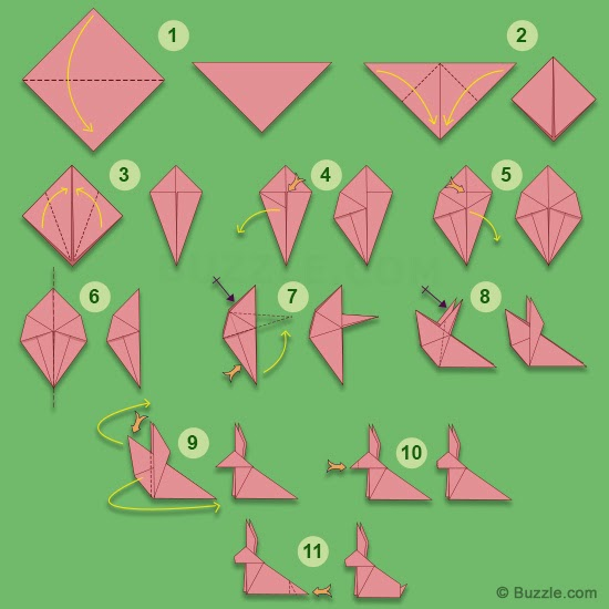 how to do origami step by step for kids
