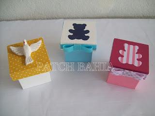 caixas forradas em tecido para lembrancinhas