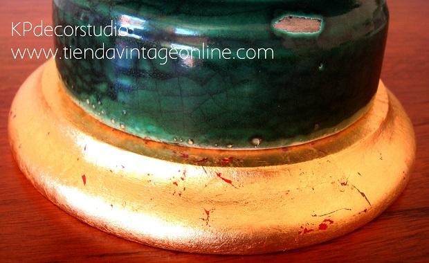 Lámparas de manises restauradas en buen estado listas para colocar