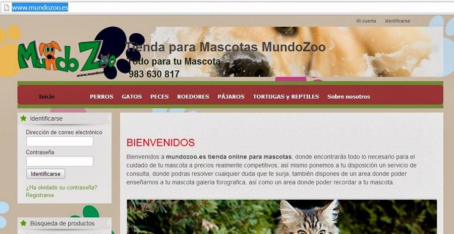 Tienda Online para Mascotas Mundo Zoo