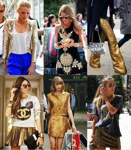 Moda dourado - Tendências primavera verão 2015