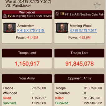 wow battle report Game of War Battle Reports