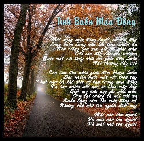 Tuyển tập những bài thơ tình buồn về mùa Đông đầy tâm trạng..