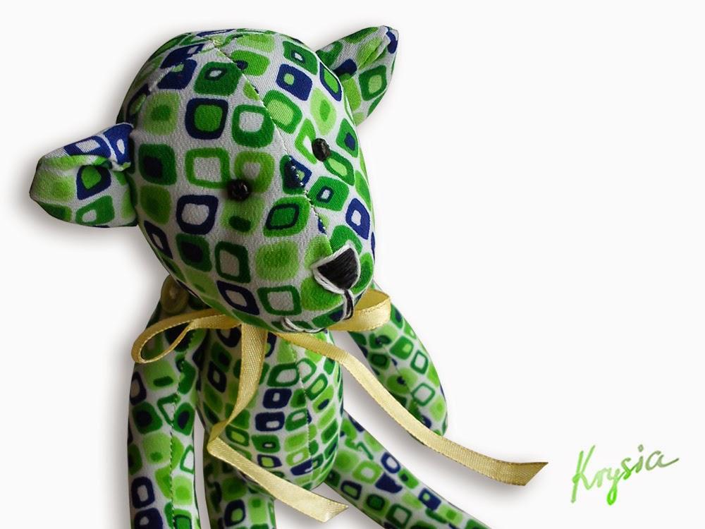 miś tilda zielony