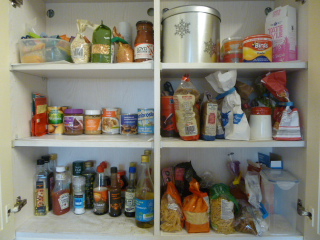 Main Food Cupboard A Month Later