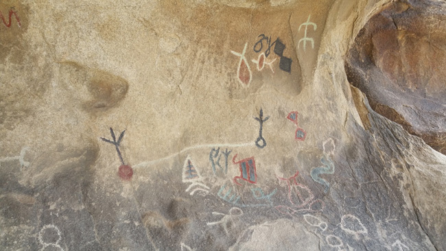 Pictographs in Joshua Tree National Park