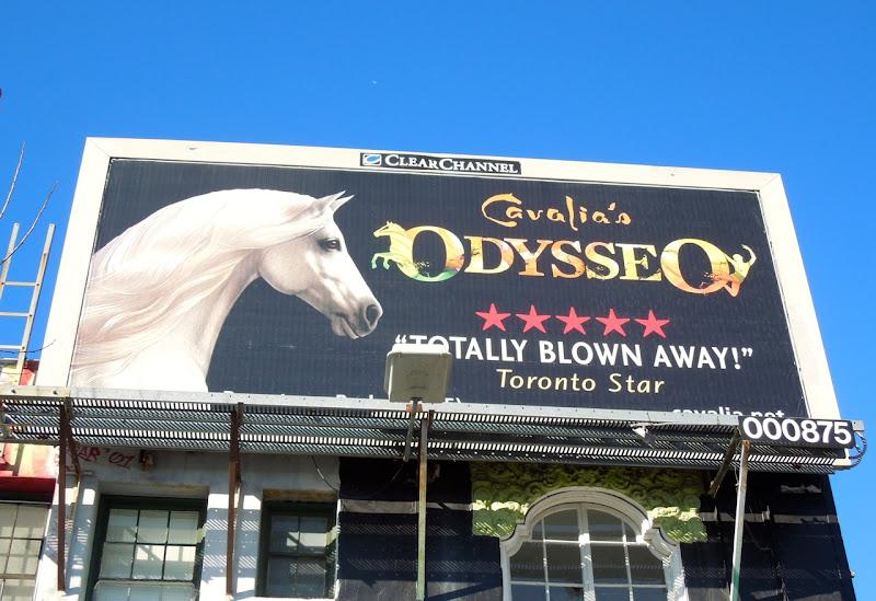 Cavalias Odysseo show billboard