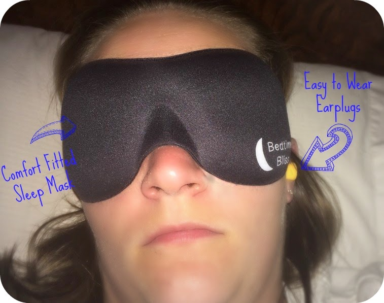 Black out Sleep mask, Bedtime Bliss sleep mask, #bedtimebliss