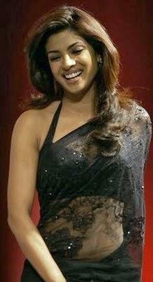Priyanka Chopra looks hot in black backless tight saree Priyanka Chopra hot pics hd