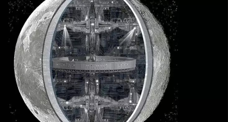 Αρχαίοι εξωγήινοι: Διαστημικός σταθμός  Σελήνη