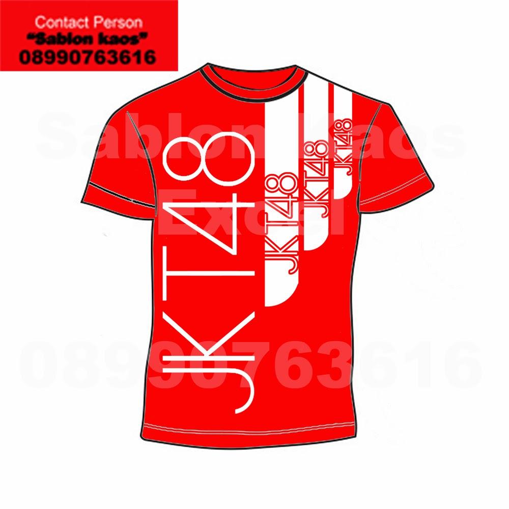 Desain t shirt jkt48 -  D Postingan Kedua Ini Saya Memperkenalkan Desain Ini J Saya Memberikan Nama T Shirt Jkt48 3 Line Red Edition Meskipun Bukan Desain Buatan Ane Hahaha