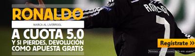 betfair Ronaldo marca al Liverpool cuota 5 liga 22 octubre
