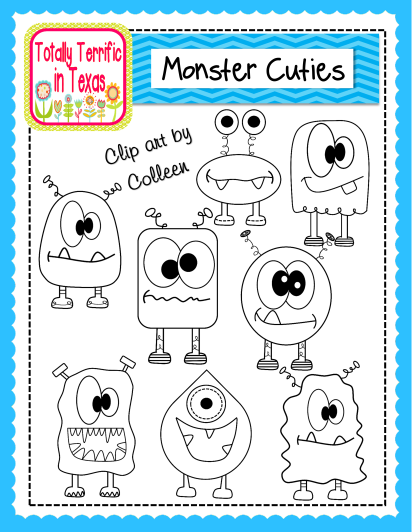http://www.teacherspayteachers.com/Product/Monster-Cuties-Clip-Art-1231089