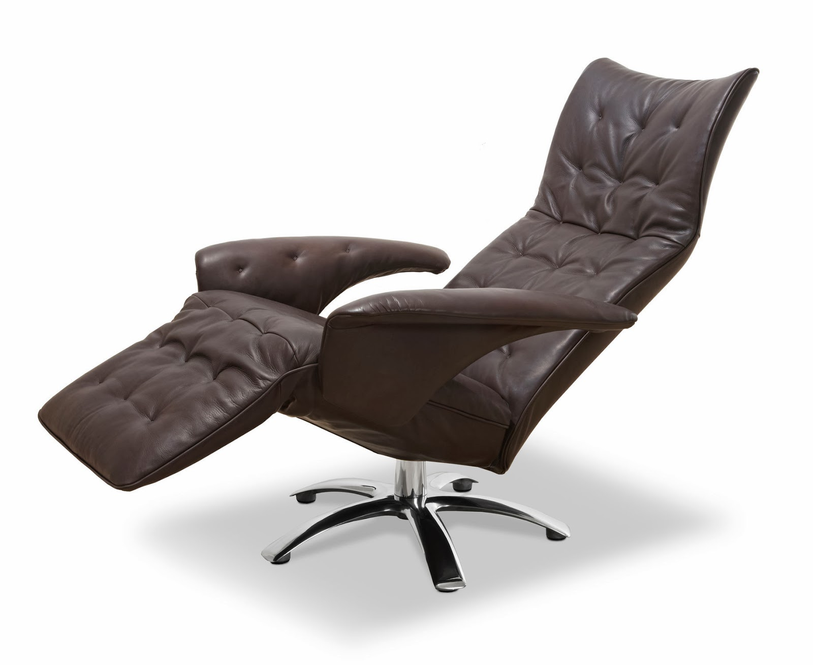 fauteuil inclinable en cuir moderne