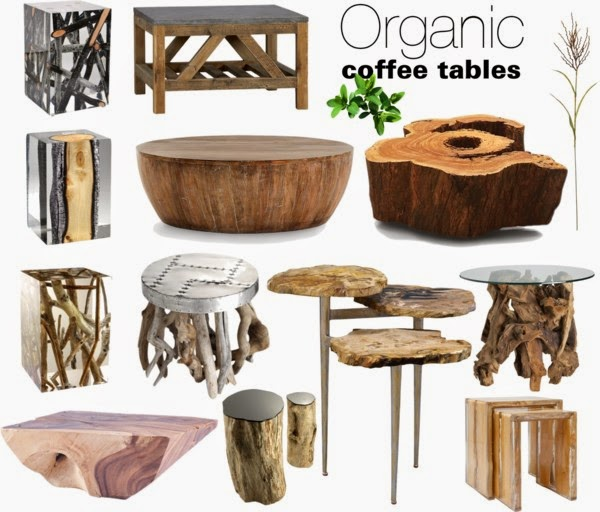Organic Wood Coffee Tables
