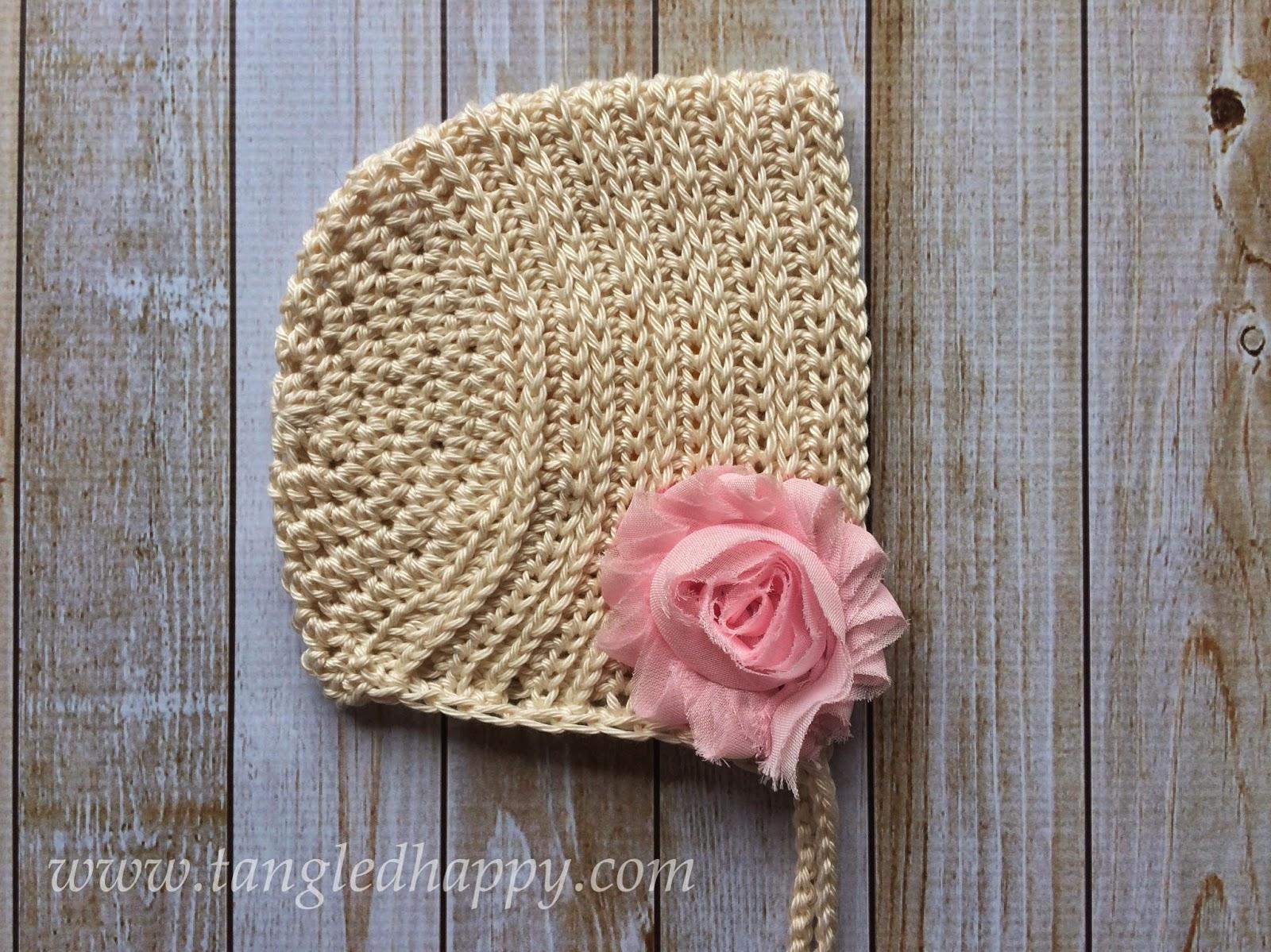 free crochet pattern ribbed baby bonnet