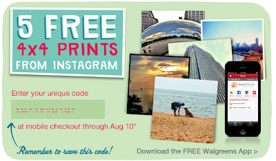5 free 4x4 prints from instagram at walgreens code