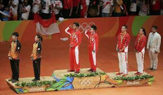 Beregu campuran negara raih Perak di Olimpik