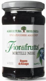基準値を超えるセシウムが検出された商品ーフィオールディフルッタ オーガニック フルーツスプレッド  ブルーベリー