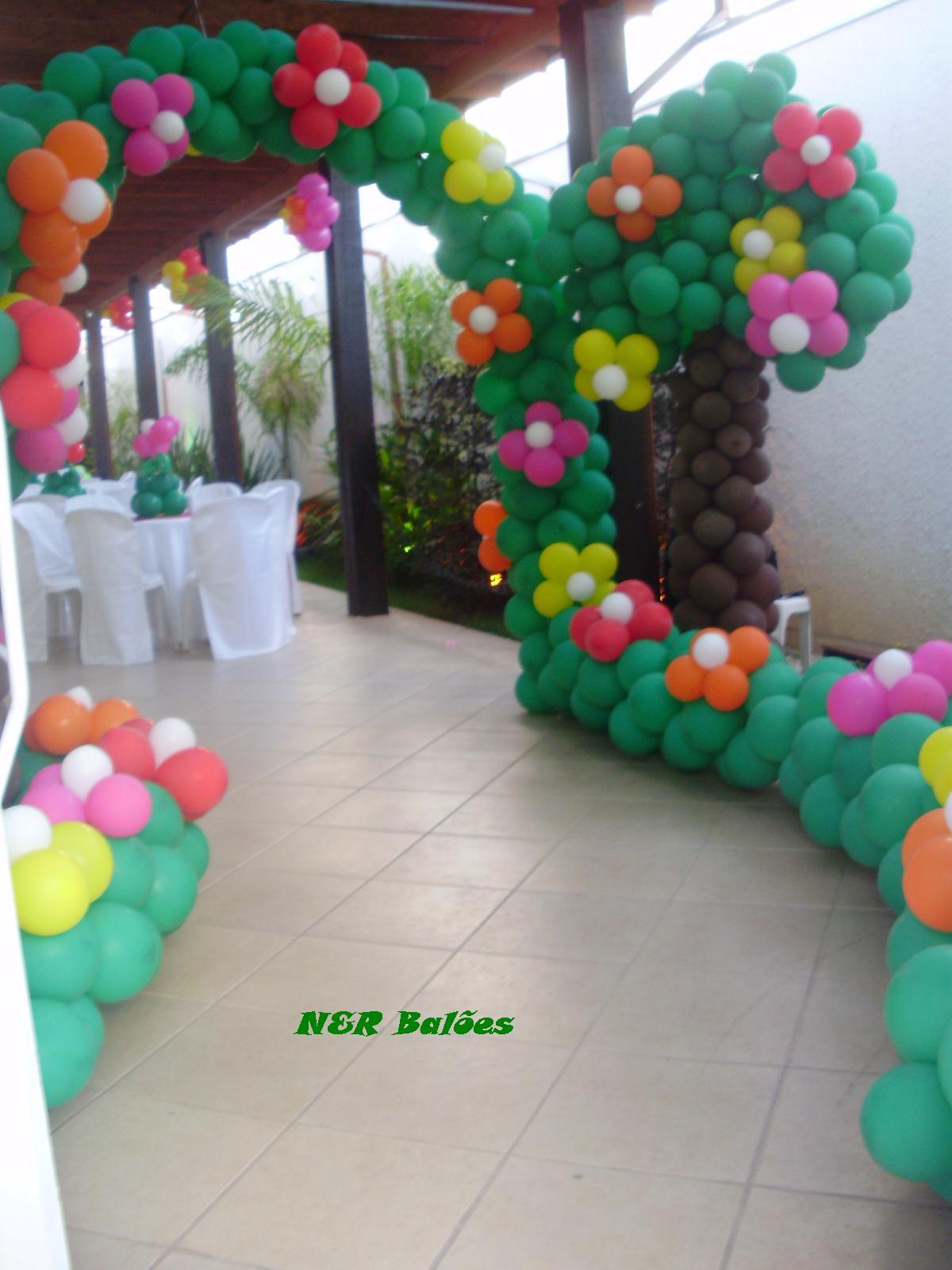 decoracao de balões jardim encantado:Jardim Encantado
