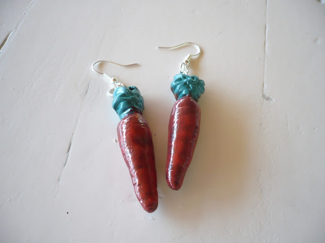 unique crop jewelry: earrings with polime clay ideas
