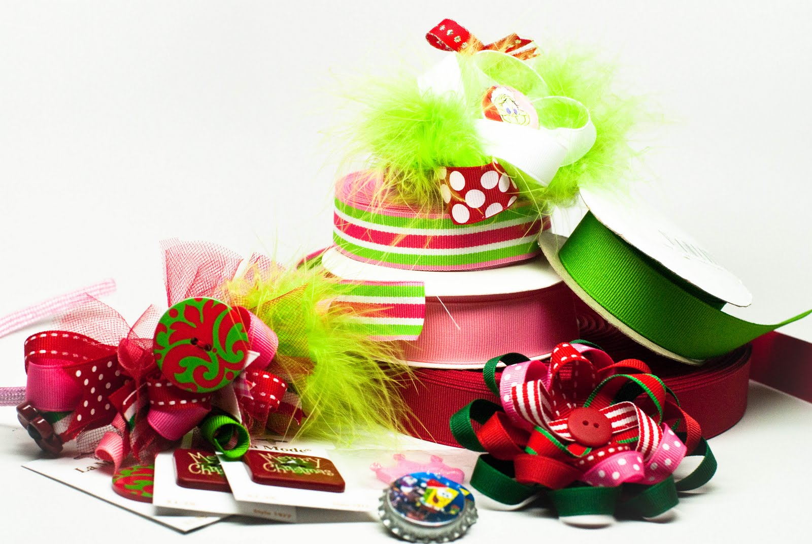 Designing hair bows and fabric flowers for the holidays