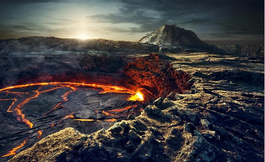 Danau Lava di Gunung Erta Ale