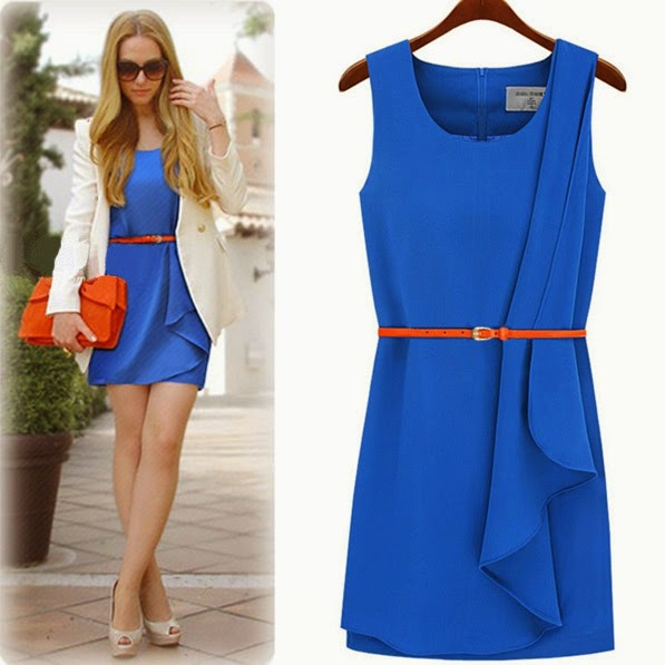 2012-Summer-New-Arrival-Women-s-Fashion-Dress-European-Brief-Casual-Fashion-Irregular-Sweep-With-Belt