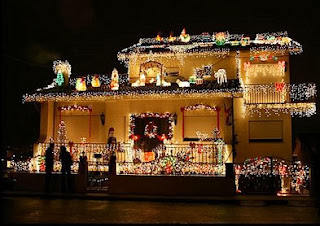 iluminação natalina para fachada de residência
