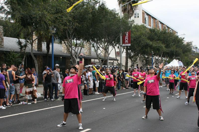 Gay Mens Chorus rifles WEHO Pride Parade