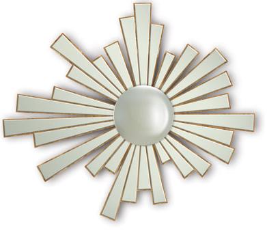 espejo ovalado con forma de sol