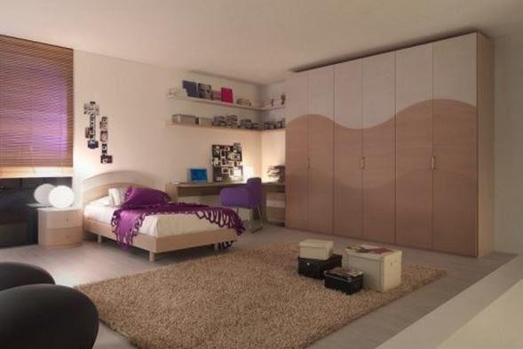 Tieners minimalistische ontwerp van de slaapkamer huisontwerp