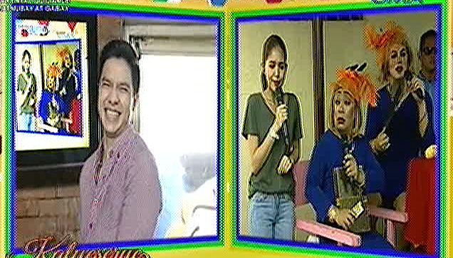 Yaya Dub visited by a ghost, doing pabebe scared gesture