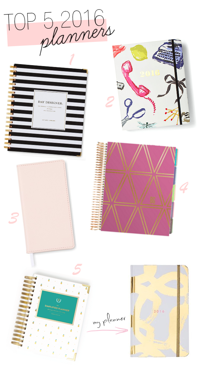 Get Organized: 5 Best Planners for 2016