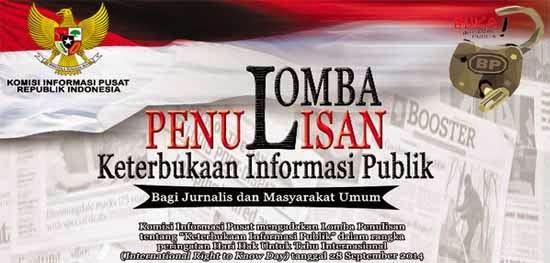 lomba penulisan keterbukaan informasi publik