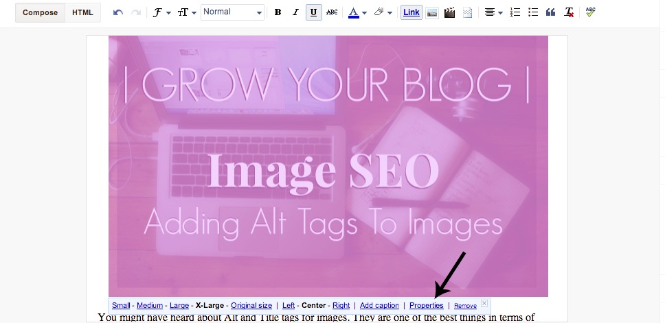 adding alt tags to blog images, blog seo, grow your blog