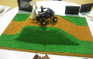 4-Wheeler Themed Groom's Cake - Back View