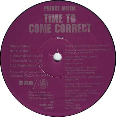 Prince Akeem – Time to Come Correct (Promo CDS) (1991) (320 kbps)