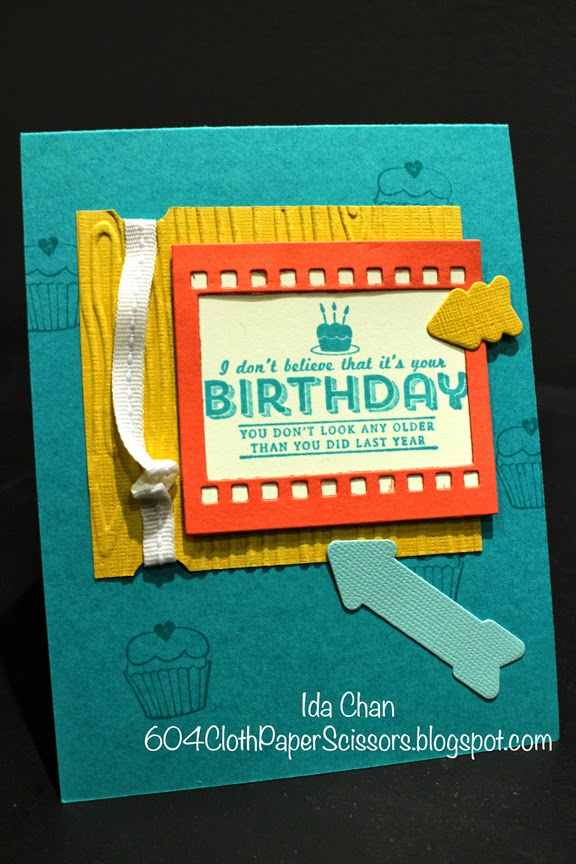 See Ya Later birthday card by Ida Chan #StampinUp