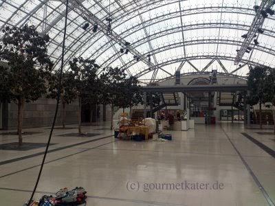 Neue Messe Leipzig heute am Morgen