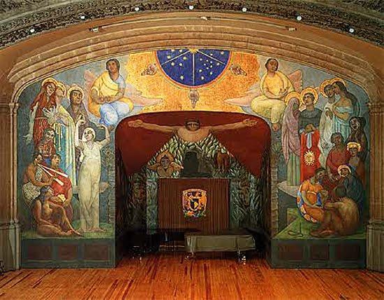 El portafolio del arte diego rivera for Mural prepa 1 uaemex