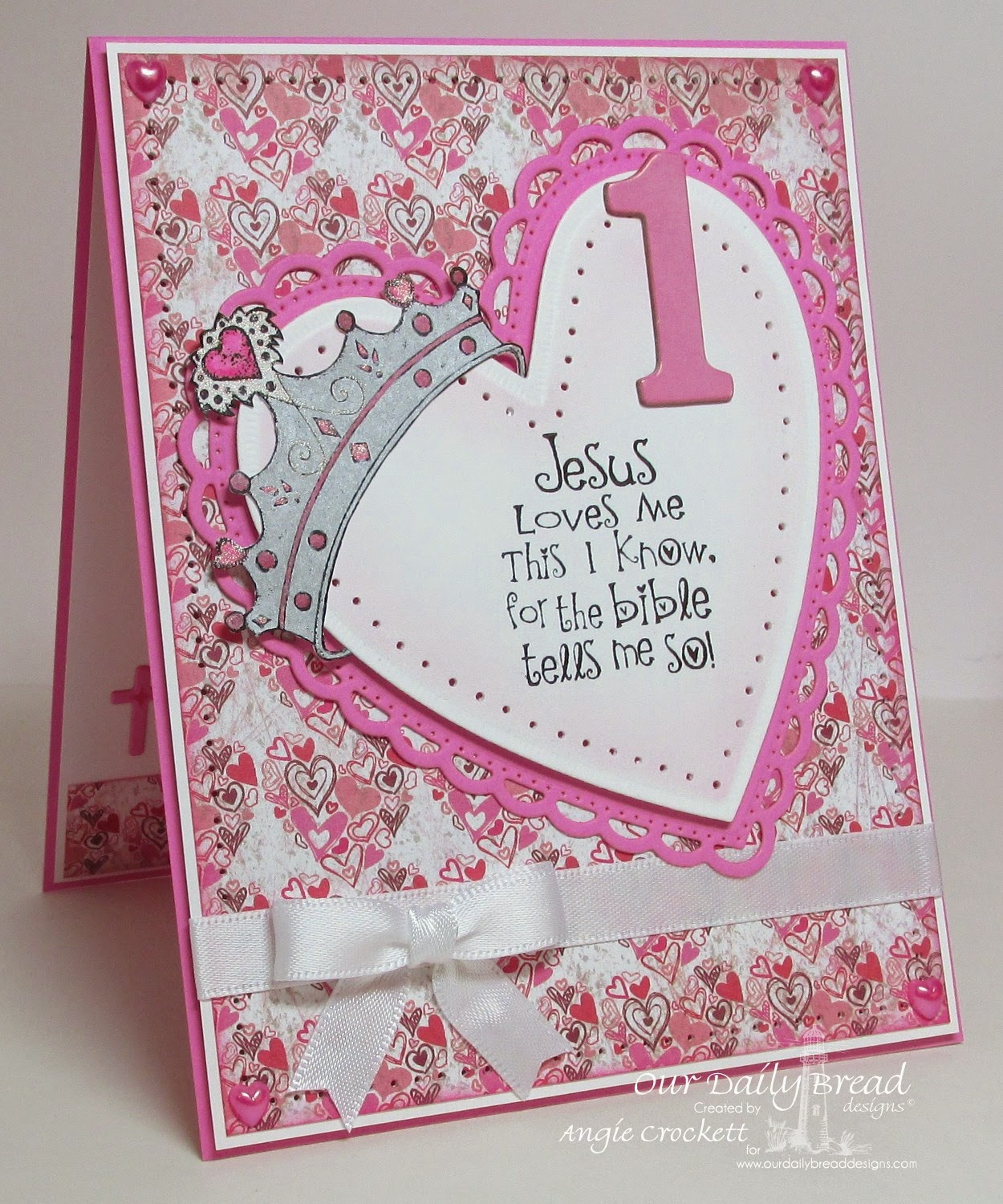 ODBD Princess, ODBD Custom Ornate Hearts Die Set, ODBD Heart and Soul Designer Paper Collection, Card Designer Angie Crockett