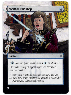 Mental Misstep Altered art Mental Misstep Magic the Gathering altered art mtg Magic cards altered art Magic Illustration Mental Misstep mtg