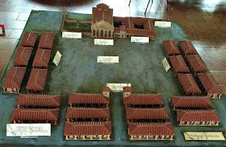 Maquete da redução de São Luiz Gonzaga no Museu Antropológico do município.